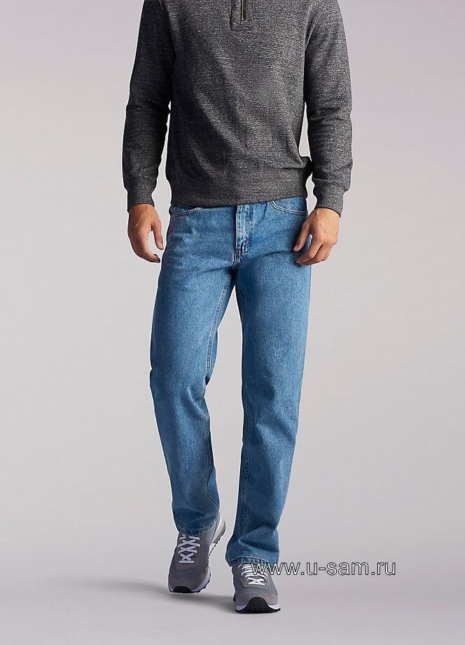 LEE Regular Fit Straight Leg Jeans Light Stone 200-8916