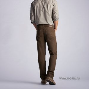 Мужские джинсы Lee 200-8939 Regular Fit Straight Leg jeans- Walnut 2