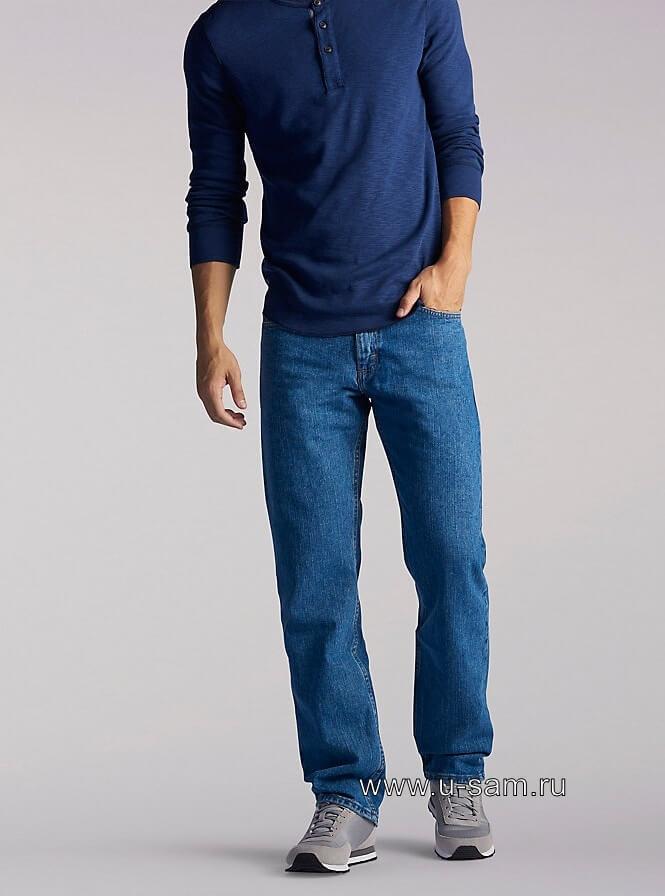 LEE Regular Fit Straight Leg Jeans Pepper Stonewash 200-8944