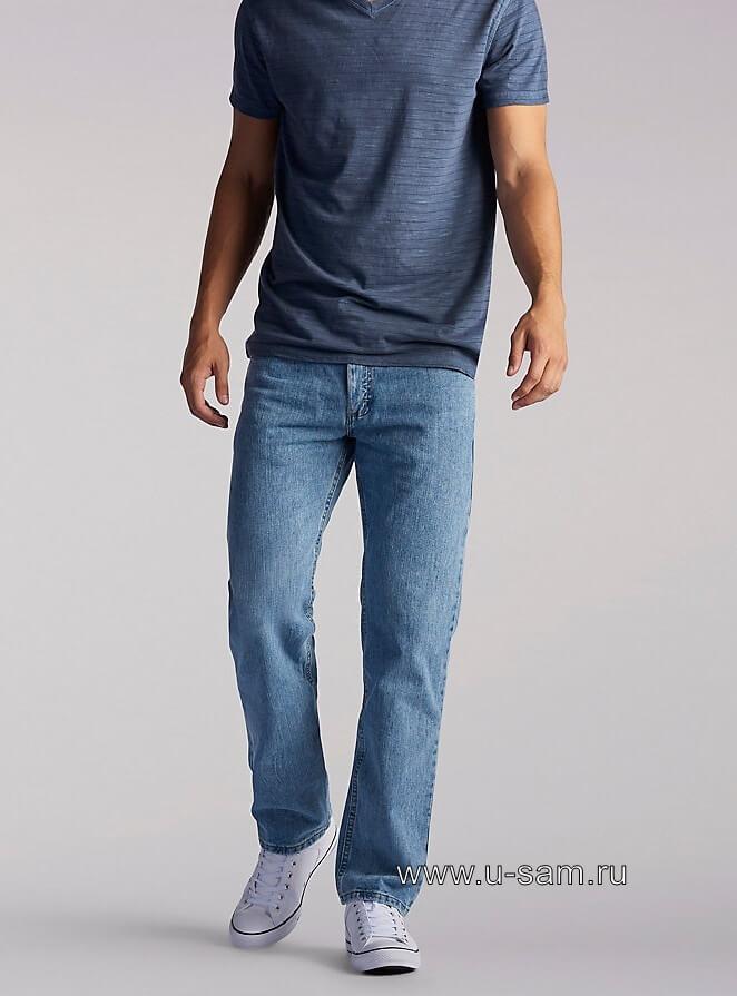 LEE Regular Fit Straight Leg Jeans Worn Light 200-8949