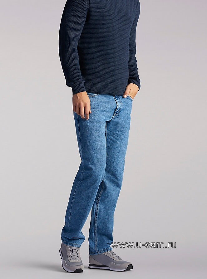 LEE Regular Fit Straight Leg Jeans Vintage Stonewash 200-8960
