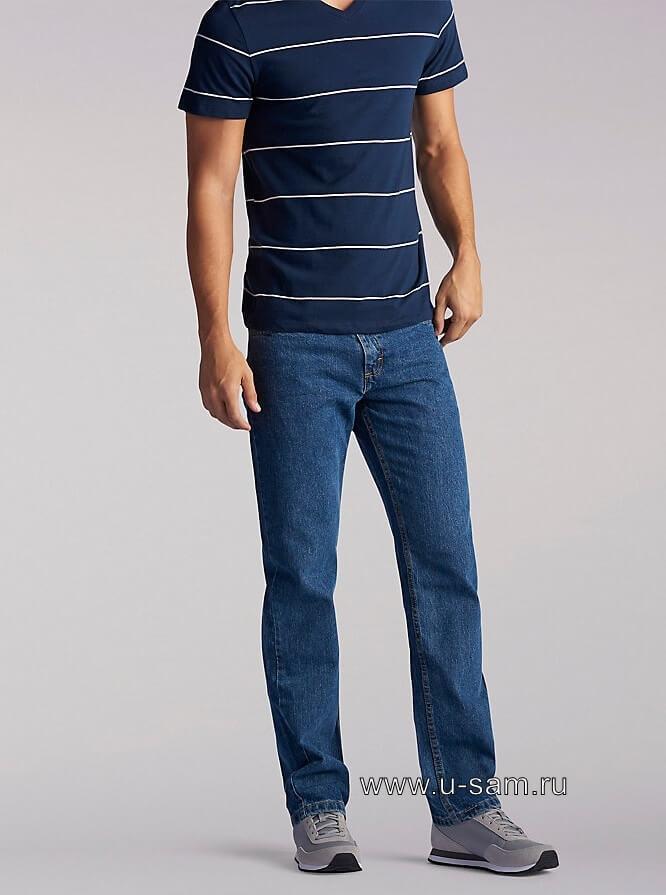LEE Regular Fit Straight Leg Jeans Medium Stone 200-8964