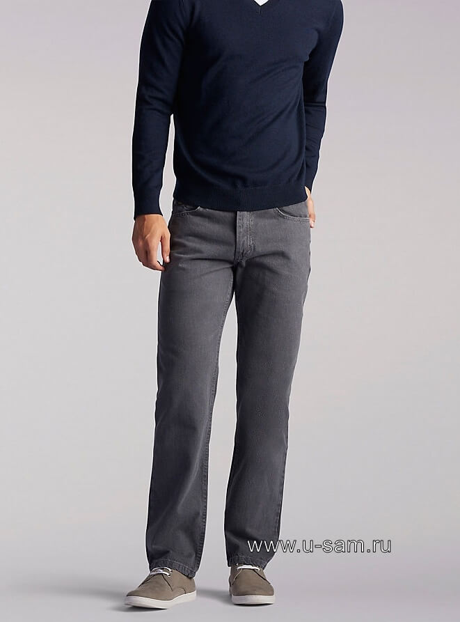 LEE Regular Fit Straight Leg Jeans Charcoal 200-8979