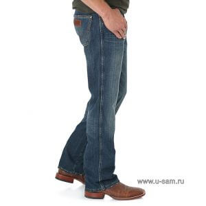 Мужские джинсы Wrangler Retro Slim Fit Bootcut Jean