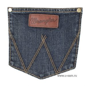 Мужские джинсы Wrangler Retro Slim Fit Straight Leg Jean