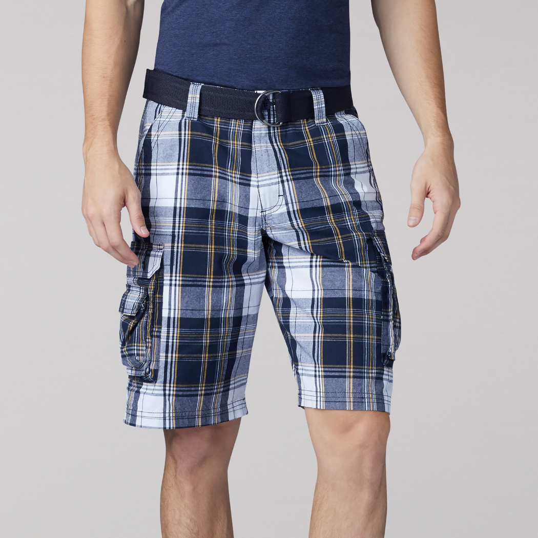 Lee Wyoming Cargo Short Navy Munro Plaid 1
