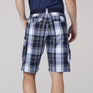 Lee Wyoming Cargo Short Navy Munro Plaid 2