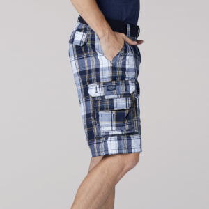 Lee Wyoming Cargo Short Navy Munro Plaid 4