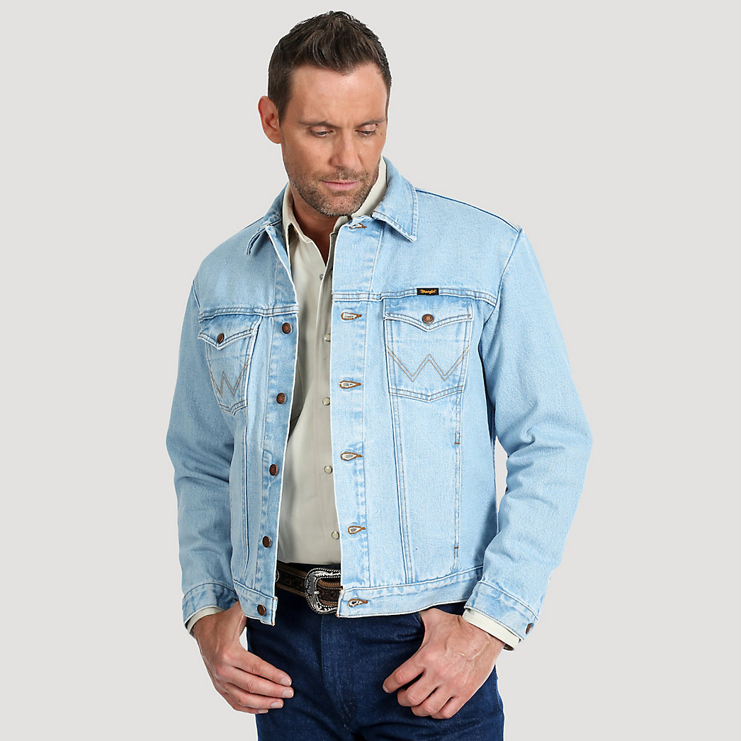 Wrangler® Cowboy Cut® Unlined Denim Jacket Bleach Denim 74145GH