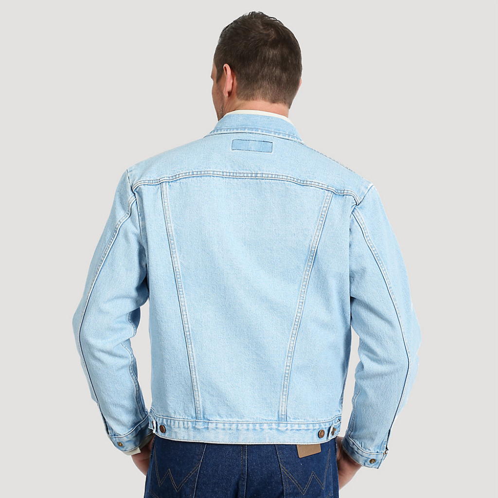 Wrangler® Cowboy Cut® Unlined Denim Jacket Bleach Denim 74145GH 2