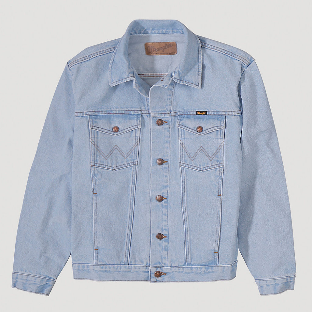 Wrangler® Cowboy Cut® Unlined Denim Jacket Bleach Denim 74145GH 5